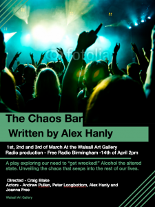 The Chaos Bar Play written by Alex Hanly