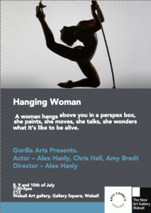 Hanging Woman theatre show by Gorilla arts and Alex Hanly